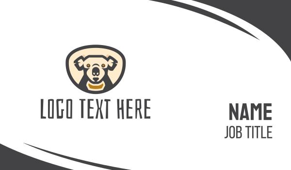 jungle - Koala Head Business card horizontal design