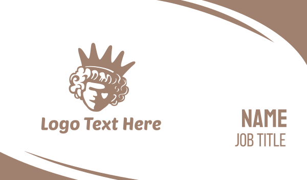 jewel - Queen Crown Business card horizontal design