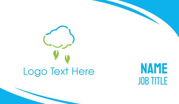 raindrop - Leaf Rain Business card horizontal design