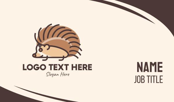 cute - Pet Hedgehog Business card horizontal design