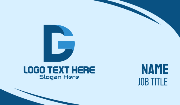 app development - Digital Tech D & G Business card horizontal design