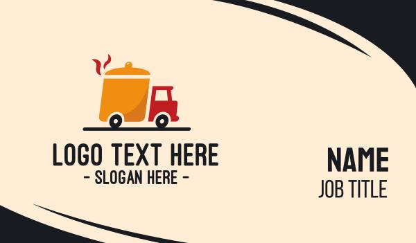 broth - Hotpot Food Truck Business card horizontal design