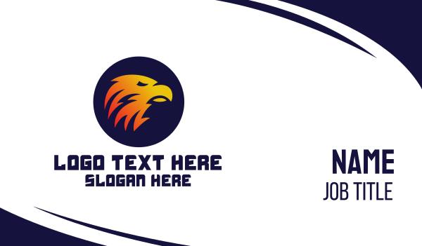 sigil - Fiery Eagle Business card horizontal design