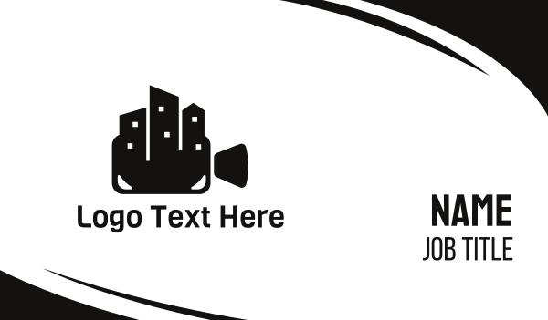 film studio - City Cinema Business card horizontal design