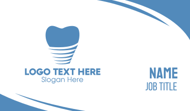 Abstract Tooth Pattern Business Card