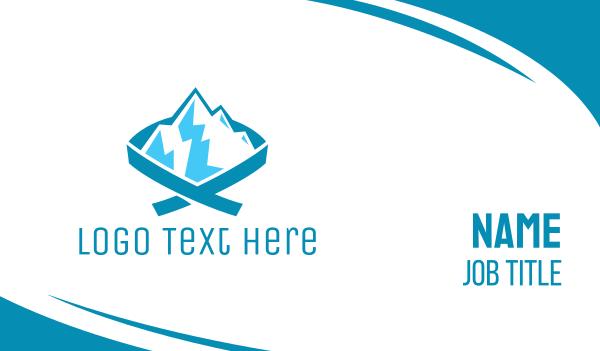 iceberg - Blue Mountain Ribbon Business card horizontal design