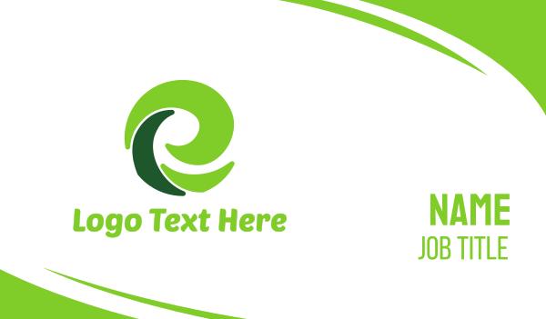 green energy - Green E Eco Business card horizontal design
