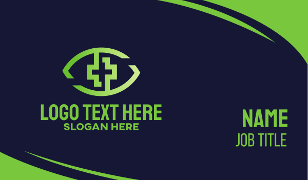 green eye - Green Eye Health Business card horizontal design