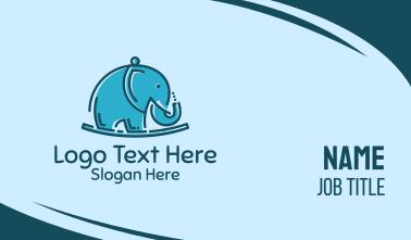 Blue Elephant Kids Toy Business Card