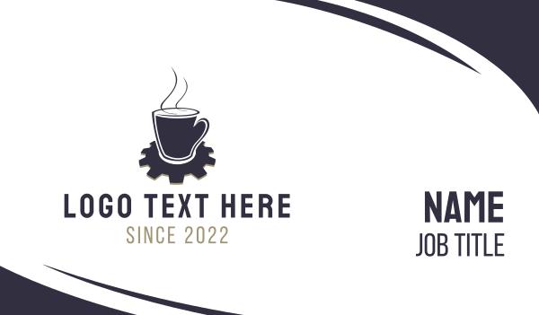 beverage - Industrial Coffee Business card horizontal design