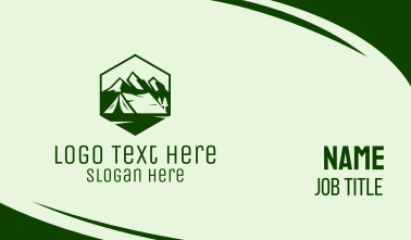 Mountain Camping Tent  Business Card