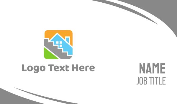 tiler - House Tile Square Business card horizontal design