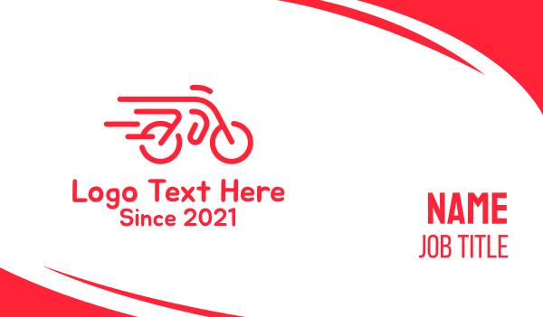 cyclist - Fast Bicycle Bike Motorbike Business card horizontal design
