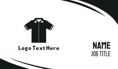 Geometric Polo Shirt Business Card