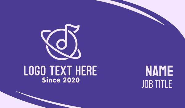 tone - Music Planet Business card horizontal design