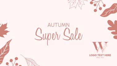 Autumn Super Sale Facebook event cover