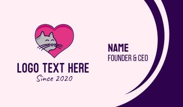 Heart Cat  Business Card