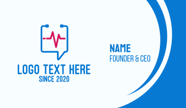 Medical Check Up Messaging Business Card