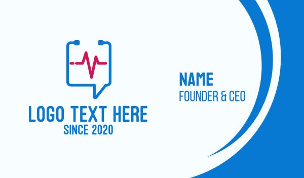 medical care - Medical Check Up Messaging Business card horizontal design