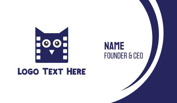 reel - Owl Films Business card horizontal design