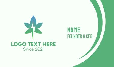 Gradient Flash Cannabis Business Card