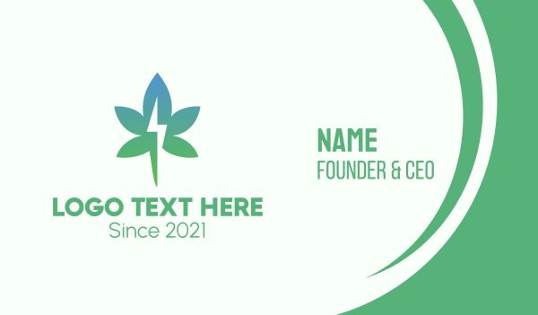 vice - Gradient Flash Cannabis Business card horizontal design