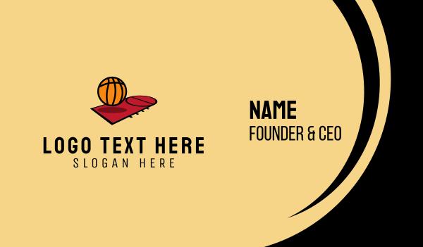 basketball equipment - Basketball Court  Business card horizontal design