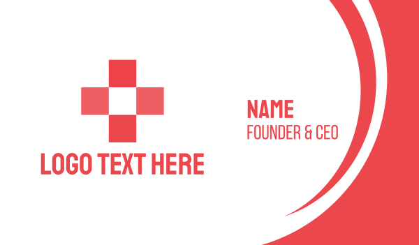 red box - Medic Box Cross Business card horizontal design