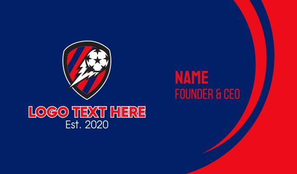 soccer tournament - Soccer Ball Football Business card horizontal design