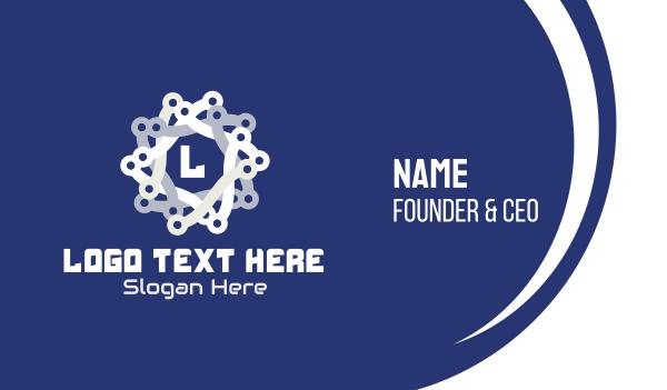 chain - Tech Chain Star Business card horizontal design