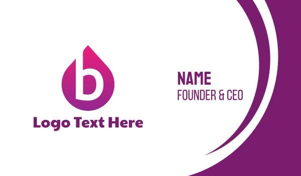 moisturizer - Purple B Drop Business card horizontal design