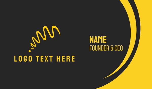 white and yellow - Yellow Ribbon Business card horizontal design