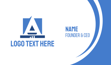 Corporate Blue Letter Business Card