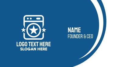 Star Laundromat Business Card