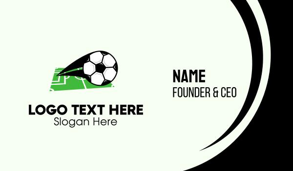 soccer coach - Soccer Ball Field Business card horizontal design
