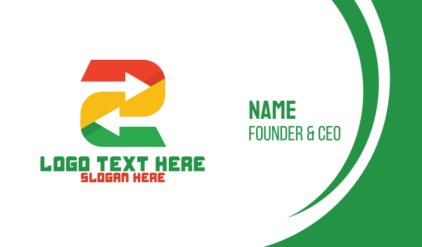 entrepreneur - Tech Arrow Number 2 Business card horizontal design