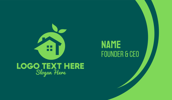 home insurance - Fresh Green Home Business card horizontal design