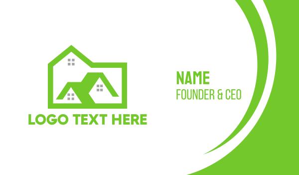 green city - Green Box House Business card horizontal design