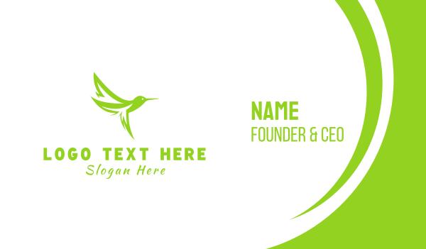 colibri - Leaf Hummingbird Business card horizontal design