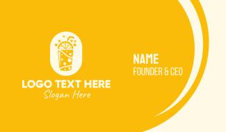 Yellow Lemonade Drink Business Card