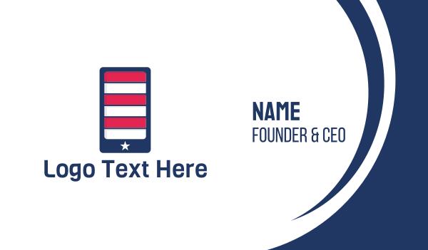 republican - American Mobile Phone Application Business card horizontal design