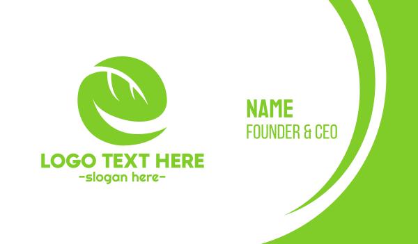 arborist - Leaf Letter E Business card horizontal design