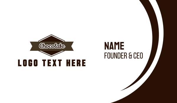 biscuit - Chocolate Label Business card horizontal design