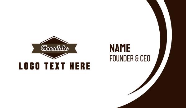 brown cupcake - Chocolate Label Business card horizontal design