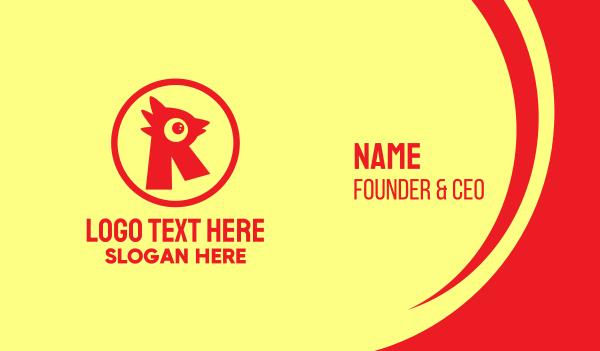 fried chicken - Letter R Chicken Emblem Business card horizontal design