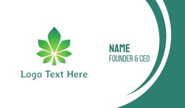 Gradient Polygon Cannabis  Business Card