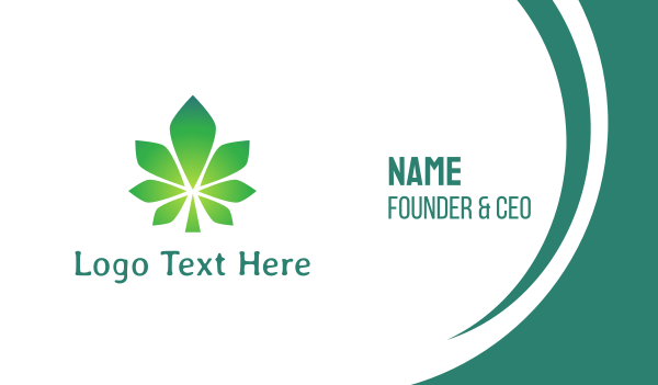 vice - Gradient Polygon Cannabis  Business card horizontal design