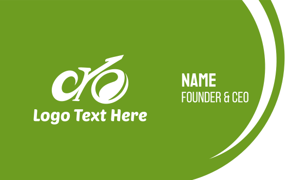 Abstract Eco Bike Business Card