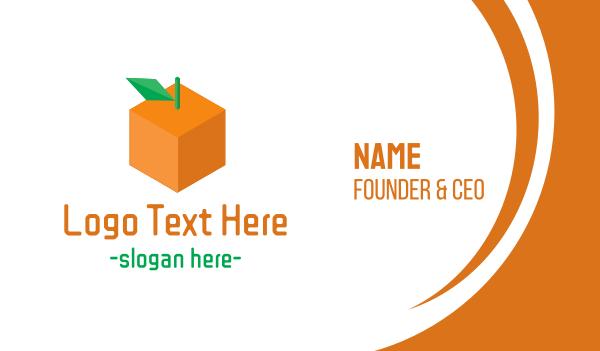 primitive - Orange Cube Business card horizontal design