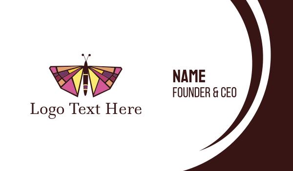 jewelery - Butterfly Art Business card horizontal design